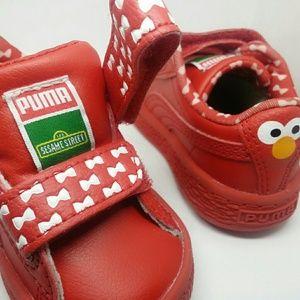 Puma Sesame Street Basket Elmo Mono V Kids sneaker bdf4822d8